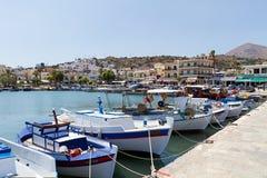 Hamn i Rethymno Arkivbild
