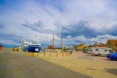 Hamn i Simrishamn, Sverige arkivbild