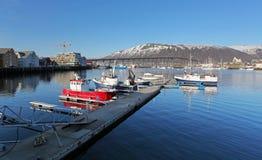 Hamn i Tromso, Norge arkivbilder