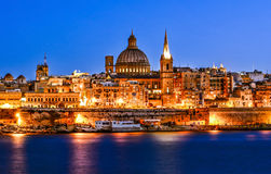 Hamn i Valletta Arkivbild