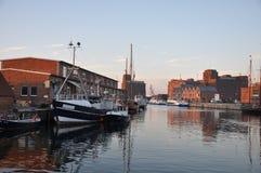 Hamn i Wismar Arkivbilder