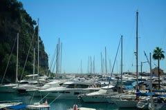 Hamn La Condamine, Monaco Fotografering för Bildbyråer