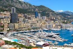 Hamn La Condamine, Monaco Arkivfoton