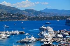 Hamn La Condamine, Monaco Royaltyfri Foto