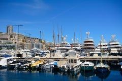 Hamn La Condamine, Monaco Arkivbild