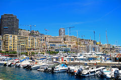 Hamn La Condamine, Monaco Royaltyfri Fotografi
