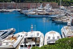 Hamn La Condamine, Monaco Arkivfoto