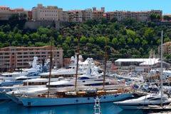 Hamn La Condamine, Monaco Arkivbilder