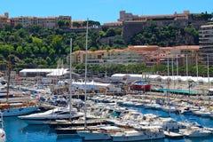 Hamn La Condamine, Monaco Royaltyfria Bilder