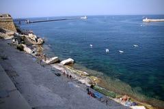 Hamn La Valletta, Malta Fotografering för Bildbyråer