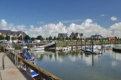 hamn little normandy royaltyfri fotografi