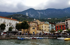 Hamn Malcesine, sjö Garda, Italien Royaltyfria Foton