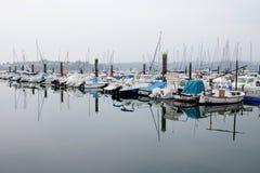 Hamn med fartyg Royaltyfria Bilder
