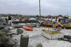Hamn nära La Serena Chile Royaltyfri Bild