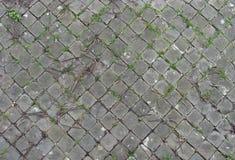 hamn nära trottoarfyrkanttegelplattor arkivfoto