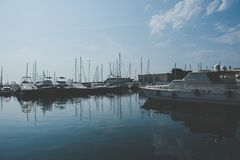 Hamn - Nice, Frankrike royaltyfri foto
