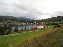 Hamn Norge 1 för Talvik fjordstad royaltyfri foto