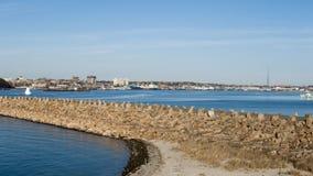 Hamn nya Bedford Massachusetts Royaltyfria Foton