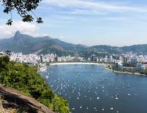 Hamn och horisont av Rio de Janeiro Brazil Fotografering för Bildbyråer
