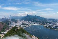Hamn och horisont av Rio de Janeiro Brazil Arkivfoton