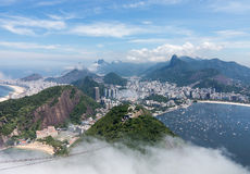 Hamn och horisont av Rio de Janeiro Brazil Arkivfoto