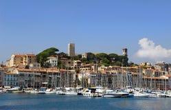 Hamn och marina på Cannes Royaltyfri Bild
