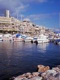 Hamn och town, Monte - carlo, Monaco. Arkivfoton