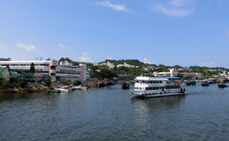 Hamn på Cheung Chau Island Royaltyfri Foto
