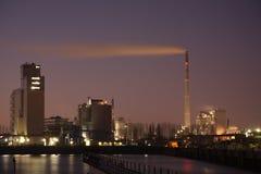 Hamn på natten - Bremen, Tyskland Arkivfoton