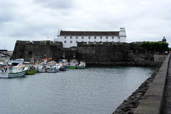 Hamn Ponta Delgada, Portugal royaltyfria bilder