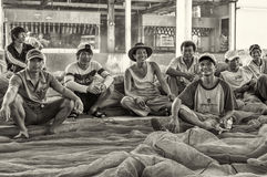 Hamnarbetare i Nha-Trang Royaltyfria Bilder