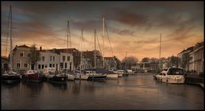 Hamnen av går, Nederländerna Arkivfoton