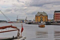Hamnen av Stavanger, Norge Arkivbilder