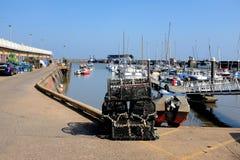 Hamnen, Bridlington, Yorkshire Arkivfoto
