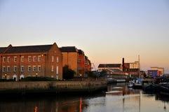 hamnen houses gammala london Royaltyfri Bild