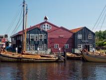 Hamnhus i staden av Elburg Royaltyfria Bilder
