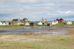 Hamningberg in Finnmark, Eind van Europa Royalty-vrije Stock Fotografie