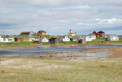 Hamningberg in Finnmark, estremità di Europa Fotografia Stock Libera da Diritti