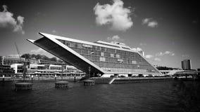 Hamnkvarter Hamburg Arkivbild