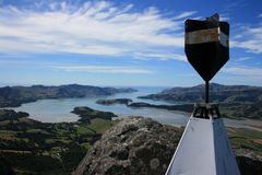 hamnlyttelton New Zealand Royaltyfri Fotografi