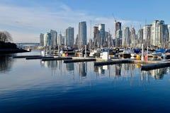 Hamnmarina i i stadens centrum Vancouver Royaltyfri Foto