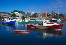 hamnmassachusetts rockport Royaltyfria Foton
