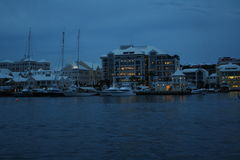 Hamnnatt Hamilton Bermuda royaltyfria bilder
