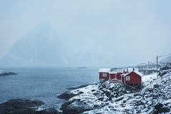Hamnoy-Dorf, Lofoten Stockfoto