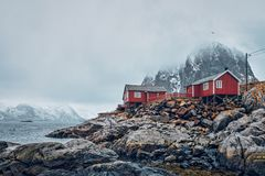 Hamnoy fishing village on Lofoten Islands, Norway royalty free stock image