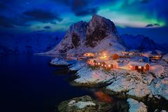 Hamnoy fishing village on Lofoten Islands, Norway royalty free stock photo
