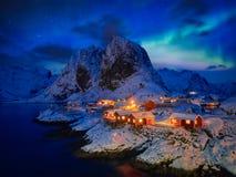 Hamnoy fishing village on Lofoten Islands, Norway royalty free stock images
