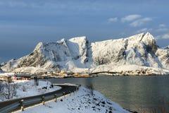 Hamnoy island in winter, Reine, Lofoten Islands, Royalty Free Stock Images