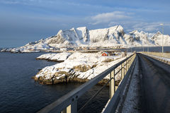 Hamnoy island in winter, Reine, Lofoten Islands, Royalty Free Stock Photos