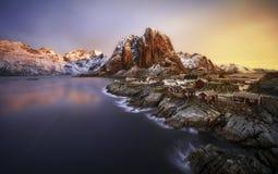 Hamnoy, islas de Lofoten, Noruega Imagen de archivo libre de regalías